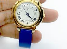 ساعة سان لوران سويسرية اصلية