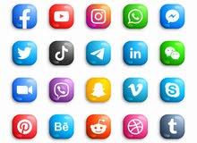 ادارة صفحات عبر مواقع التواصل الاجتماعي من المنزل