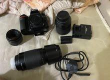 Nikon D7100 with lens 70_300+ 50 f1.8 +18_105