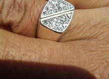 خاتم فضة جميل