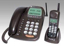 تلفون ارضي مع لاسلكي يعمل عند انقطاع التيار الكهربائي