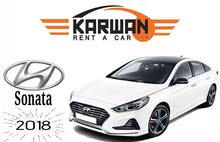 Hyundai Sonata 2018 Excellent Condition for rent.