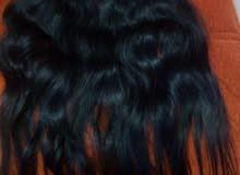 شعر طبيعي 100(100 قابل للصبغة سشوار  حمام كلبسات لون اسود جديدة