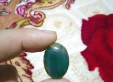حجر عقيق اخضر طبيعي