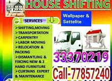 Call-33370219- Home, villa, office Furniture Moving Fixing, Carpenter, Transport