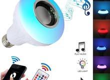 VONTAR E27 LED wireless bluetooth bulb light speaker Music Subwoofer Multi-Color