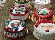 كيك كرسمس ومعجنات وحلويات