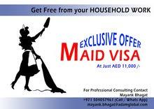Maid Visa in UAE in AED 13,000