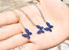 سلسال الفراشة الازرق و الاناناسه الزرقاء