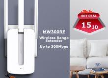 موسع الشبكة اللاسلكي Mercusys MW300RE بسرعة 300Mbps