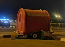 عربة مع ترخيص مقهى ساري للإيجار في البريمي