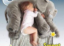 وسادة للأطفال على شكل فيل نوعية ممتازة وناعمة الملمس