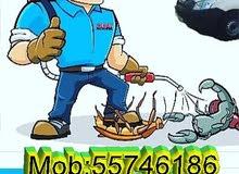 القضاء علي الحشرات -مثل الفئران والبعوض والنمل والصراصير البق الفراش وغيرها