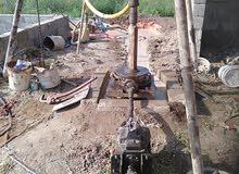 الحفر آبار  مياه رق كهرباء المنزال و مزارع