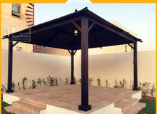 Manufacturing and Installing Wooden Roof Gazebo in UAE.