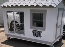 تصميم وتنفيذ جميع انواع بيوت ومنازل للكلاب