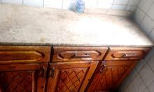 سفرة ومطبخ وكنبه خشب زان