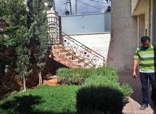 شقة ارضية مع حديقة ومدخل خاص جديد لم تسكن لإيجار فارغ