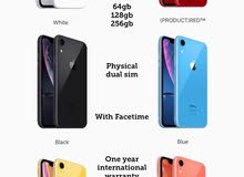 iphone XR 256gb 128gb 64gb