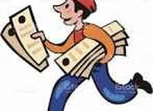توزيع إعلانات وبروشورات ورقية ومواد إعلانية