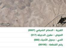 10دونم ارض للبيع على طريق المطار بسعر  الحمام الشرقي  5900دينار