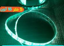 شريط ليد مضيء 16 لون 5 متر