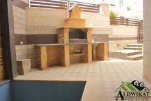 شقة شبه أرضية دوبلكس على مستوى الشارع للبيع في خلدا مساحة البناء 330 م  الحديقة 150 م ومسبح اطفال