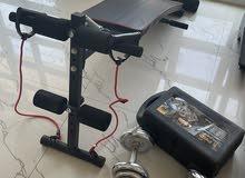 جهاز عضلات الsix pack نوعية جيدة ودمبل وزن 20 كيلو