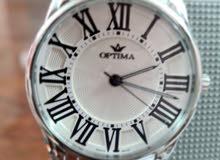 ساعة اوبتيما سويسرى اصلى