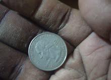 قطعة معدنية نادرة كوارتر امريكي سنة1788
