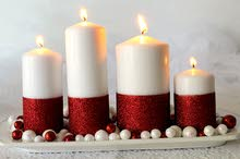 christmas tgemes and candles