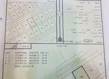 أرض سكنيه 600 متر  بالفرفاره شارع الرسه خط ثاني