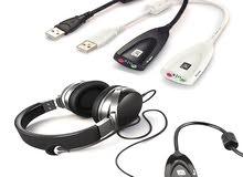 USB To 3.5mm Mic/Headphone Jack Stereo Headset Audio Adapter 7.1 Sound Card U87