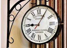 Vintage Railway Victoria Wall Clock on Both Sides