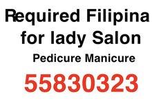 Required Filipino for lady Salon