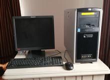 كمبيوتر كامل للبيع وركستيشن