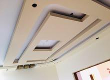 نعمل كافت ديكورات جبس ورق جدران وصبغ وتغليف وسقف ثانوي