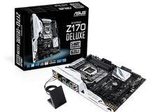 كومبيوتر بمواصفات قوية مذر بورد Asus Z170-DELUXE Intel Z170 DDR4 ATX