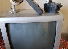 تلفزيون شارب مع ريموته وكاميرة مراقبه شغاليين وعالفحص