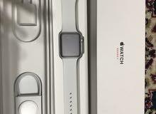 ساعة ابل واتش Apple Watch للبيع لون ابيض جديدة 42mm موديل الثالث series 3