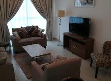 دبي الخيل هايتس غرفة وصالة مفروشة سوبر لوكس مع بلكونة - ايجار شهري شامل