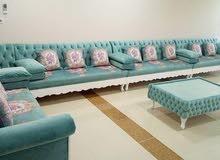 الأريكة القديمة نقوم بتغيير الملابس والأريكة الجديدة التي نصنعها في أي مكان في ق
