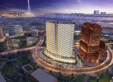 تملك منزلك الان باطلالة برج خليفة وبرج الخور دبي بالاقساط وبسعر ممتاز ب مشروع افينيو .