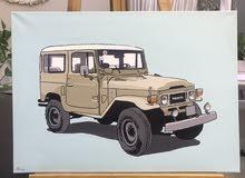 لوحه سياره بحجم 50x60 سم بألوان الاكرلك