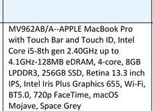 غير مستعمل مفتوح كرتون فقط Apple MacBook pro
