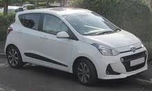 هونداي i10  لون اييض موديل 2013 للايجار بنظام شهري
