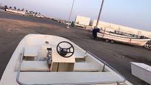 قارب 16 قدم مع ترولي ومع المكينه 25 حصان نضيف وجاهز للاستخدام طبعا القارب بدون ملكيه