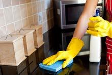 لدينا عاملات تنظيف للمنازل و المكاتب يومي