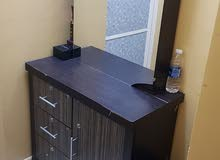 Dressing table with mirror and cabinet