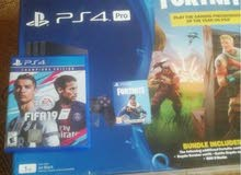 psn 4 pro 1 tb with 2 control and fifa 19